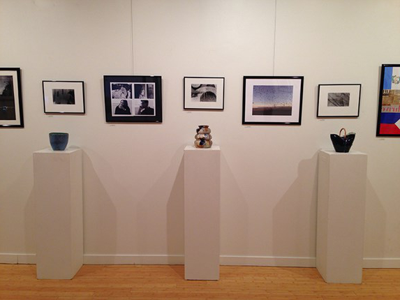 Student exhibit in gallery